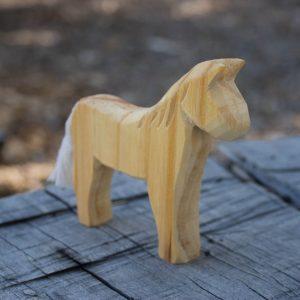 whittled horse
