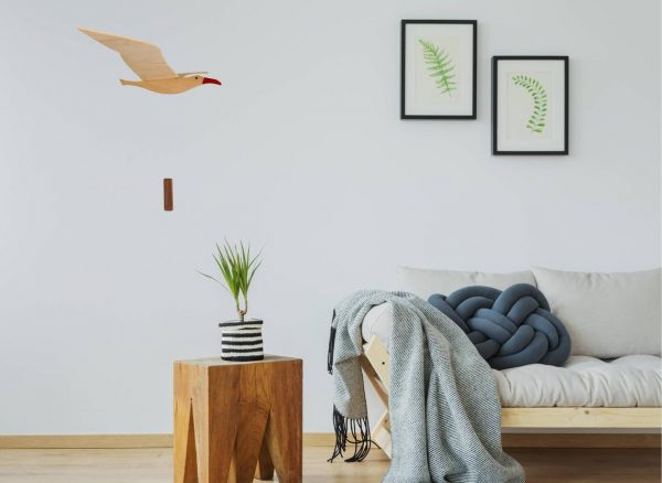 seagull in living room