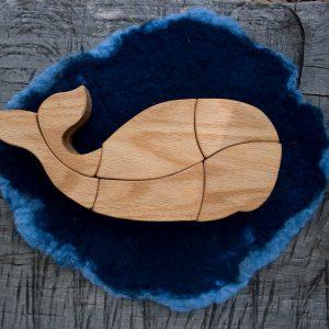 wooden whale puzzle