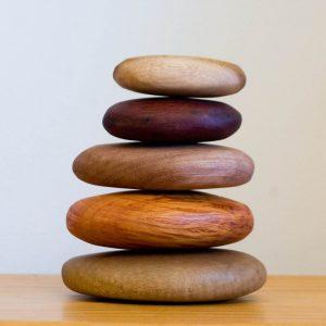 Wooden pebbles